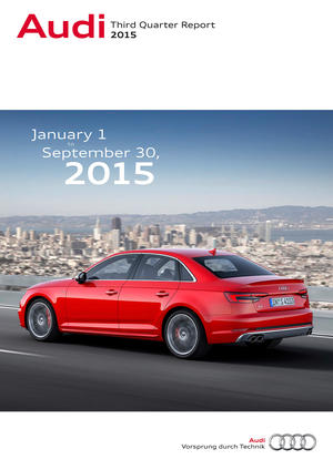 Third Quarter Report 2015 of AUDI AG