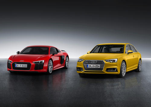 "Winner of the ""Golden Steering Wheel 2015"": Audi R8 and Audi A4 Sedan"