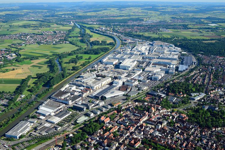 Luftaufnahme Audi Standort Neckarsulm (Süden)