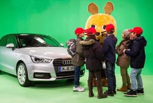 Überraschungsgast: Die Maus bei Audi