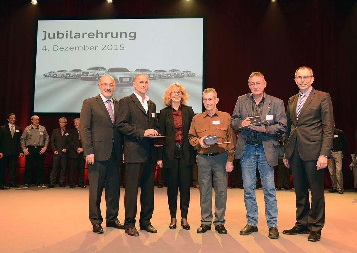 Mehr als 1.000 Audi-Jubilare geehrt