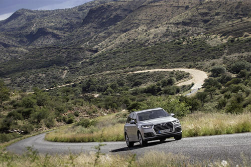 The new Audi Q7 on its last approval drive in Namibia