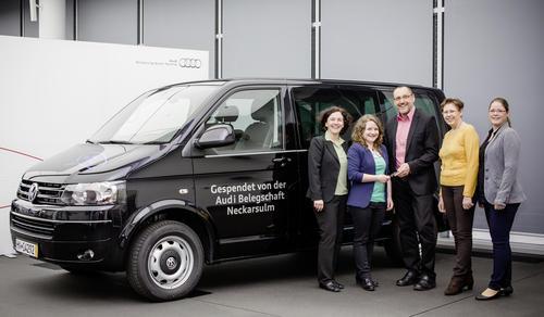 Rat auf vier Rädern:  Audi-Mitarbeiter unterstützen Diakonie Heilbronn