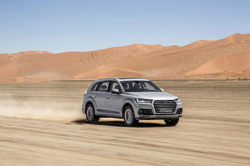 Last approval drive of the new Audi Q7