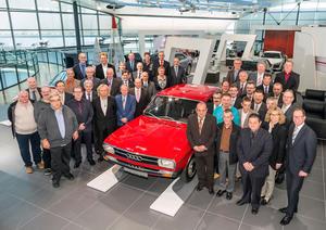 Ehrenurkunden durch das Land Baden-Württemberg: Diese Audi-Mitarbeiter sind seit 40 Jahren bei Audi tätig.