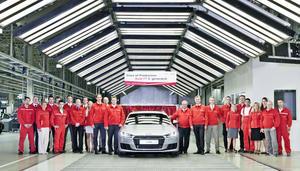 Audi Hungaria: Produktionsstart des neuen Audi TT Coupé