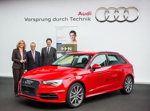 Audi Neckarsulm spendet Audi A3 e-tron an Hochschule Heilbronn