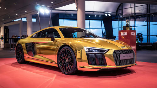 "Sonderaktionen - Sonderfahrzeug zum ""Goldenen Lenkrad"": Audi R8"