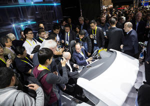 Audi at the CES 2016 Las Vegas