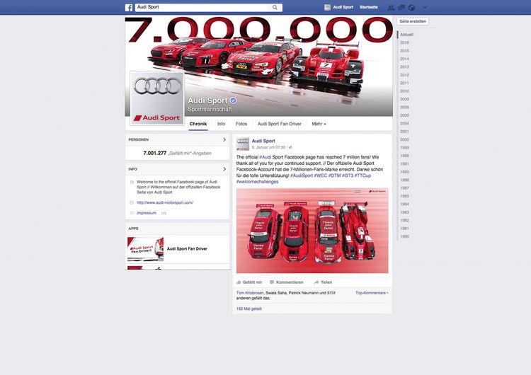 Audi Sport Facebook