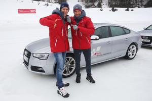 Mattias Ekström, Timo Scheider, Audi driving experience Saalbach