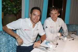 Timo Scheider, Mattias Ekström, Audi driving experience Saalbach