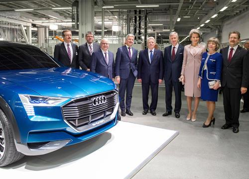 Bundespräsident Joachim Gauck und belgisches Königspaar besuchen Audi Werk in Brüssel