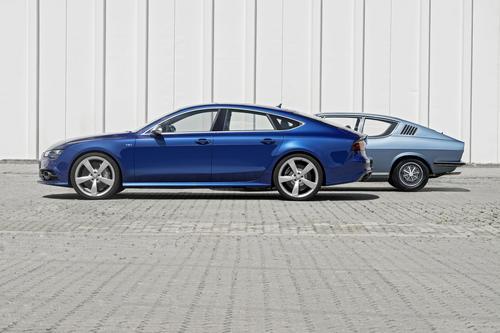 Audi S7 Sportback und Audi 100 Coupé S