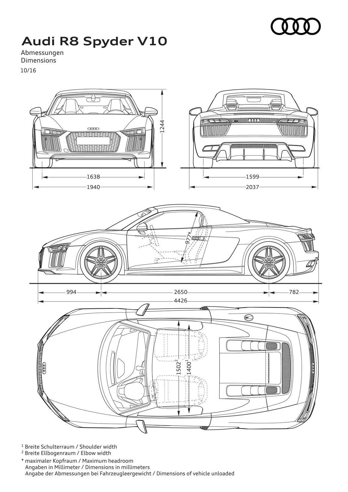 Audi R8 Spyder V10. A161510 full