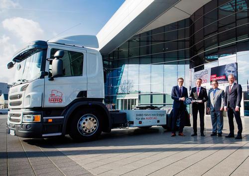 Vorreiter Audi Neckarsulm: Megatrailer mit Erdgasantrieb unterstützt Werklogistik