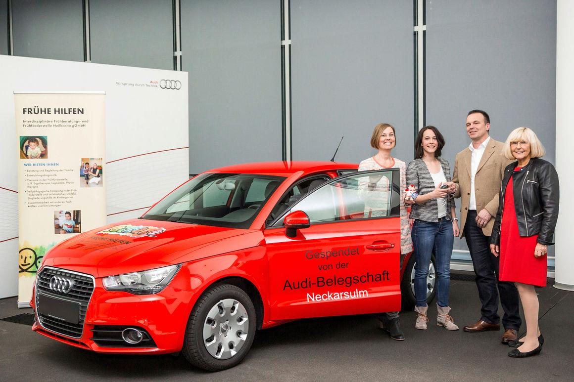 Spende der Audianer: Audi A1 für die  Frühen Hilfen