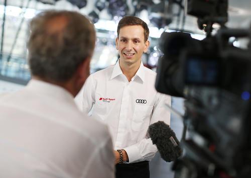 Audi Sport TT Cup 2016, media training Neckarsulm