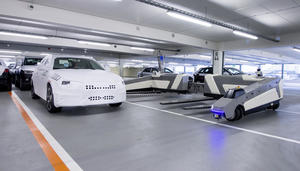 Audi plant uses robots to move cars