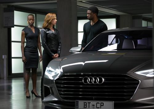 "Super Heroes in Marvel's ""Captain America: Civil War"" drive Audi cars"