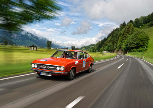 The first Audi Coupé of the post-war era: The Audi 100 Coupé S had its market launch in 1970.