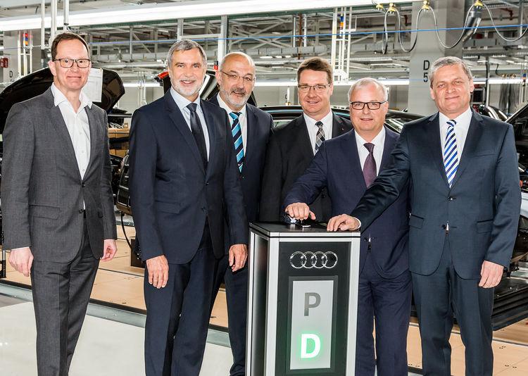 Einweihung der neuen Produktionshallen des Audi A8 am Audi-Standort Neckarsulm: