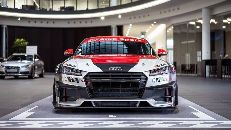 Audi TT cup adorns Audi Forum Neckarsulm