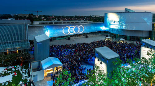 A lot of attendance for Audi Late Light Show