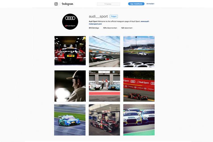 Audi Sport Instagram
