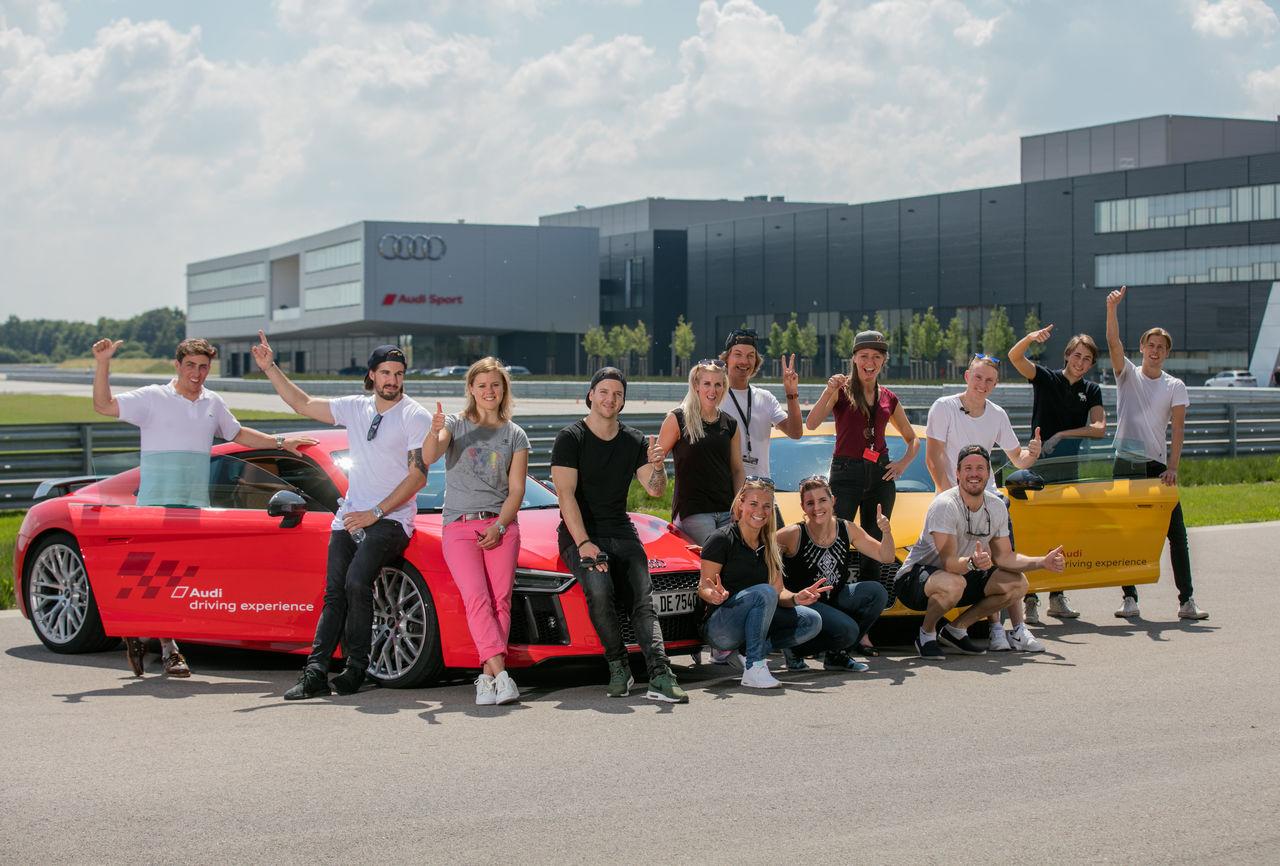Internationale Ski-Elite trifft sich zur Audi driving experience