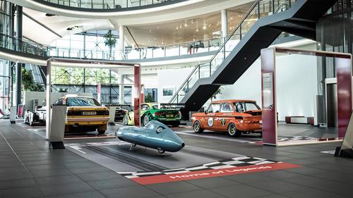 """Sonderausstellung """"Home of Legends"""" mit legendären Rennboliden vom 10. Juni bis 23. Juli 2016 im Audi Forum Neckarsulm."""