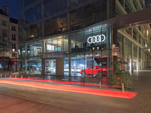 Audi City Paris: Cyberstore in Bestlage eröffnet