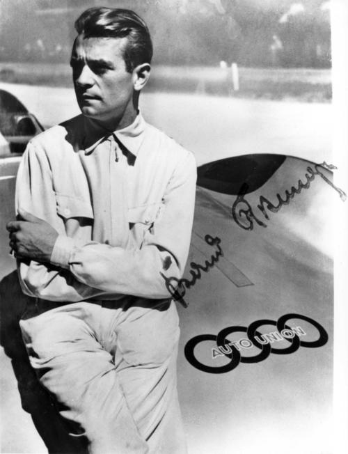 In 1936 Bernd Rosemeyer won in the Auto Union 16-cylinder Type C all possible titles: European champion, German road racing champion and German hill-climbing champion