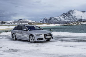 #HuntingTheLight with Matrix LED technology in the Audi A6 Avant in Northern Norway.