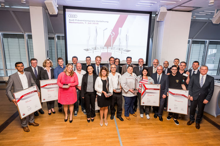 Audi awards prevention prizes for  health and safety at work