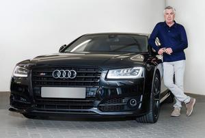 Bayern coach Carlo Ancelotti drives Audi