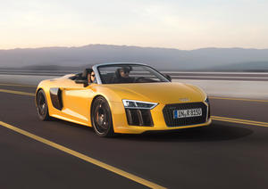 The new Audi R8 Spyder V10 is in the starting blocks