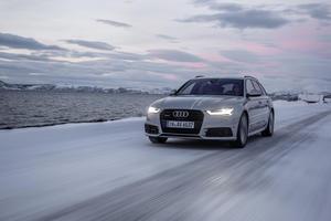 #HuntingTheLight - mit Matrix LED-Technologie im Audi A6 Avant in Nordnorwegen auf der Jagd nach dem Polarlicht.