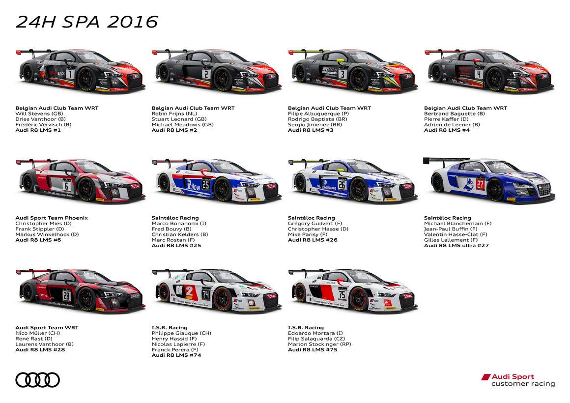 Audi r8 lms cup 2018 calendar