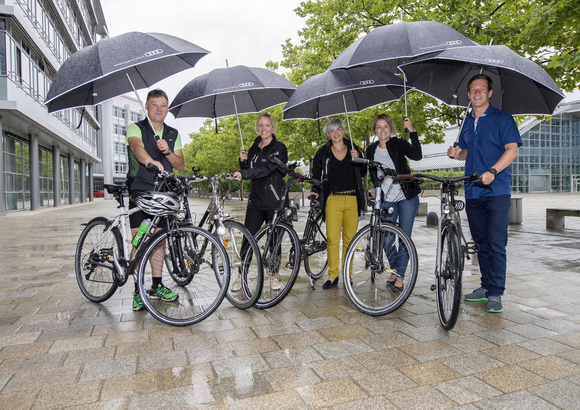 """Audianer trotzen Wind und Wetter: 295.134 Kilometer fürs """"Stadtradeln"""""""