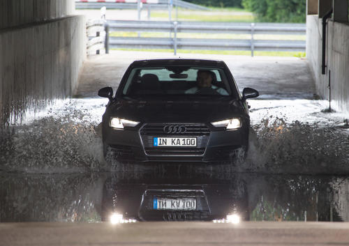 A car lifetime in fast-forward mode: 100th Audi Quality Assurance INKA test