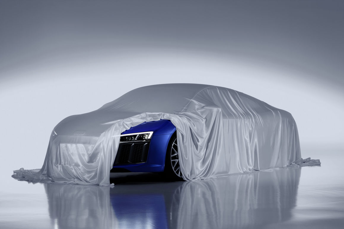 Audi reveals laser headlights for the new R8