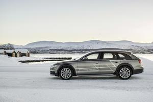 #HuntingTheLight - mit Matrix LED-Technologie im Audi A6 allroad quattro in Nordnorwegen auf der Jagd nach dem Polarlicht.