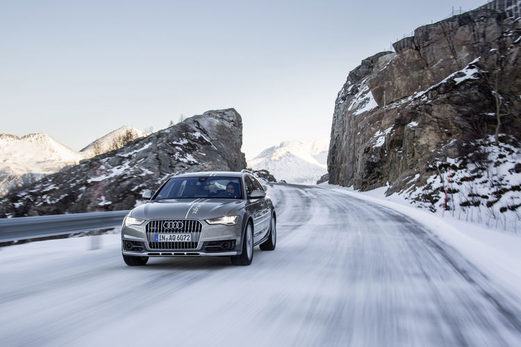 #HuntingTheLight with Matrix LED technology in the Audi A6 allroad quattro in Northern Norway.