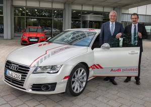 Joachim Herrmann, Bavarian State Minister of the Interior, for Building and Transport, visited AUDI AG in Ingolstadt.