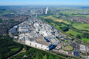 Luftaufnahme Audi Standort Neckarsulm (Nord)