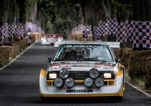 Audi-Rennlegenden Stuck, Röhrl und Biela bei den Classic Days Schloss Dyck
