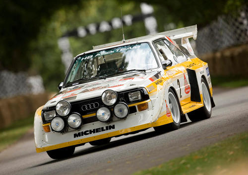 Audi Tradition mit Walter Röhrl und vier Motorsport-Klassikern beim Bergrennen