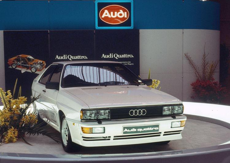 Audi quattro (B2), model year 1980 (Geneva Motor Show)