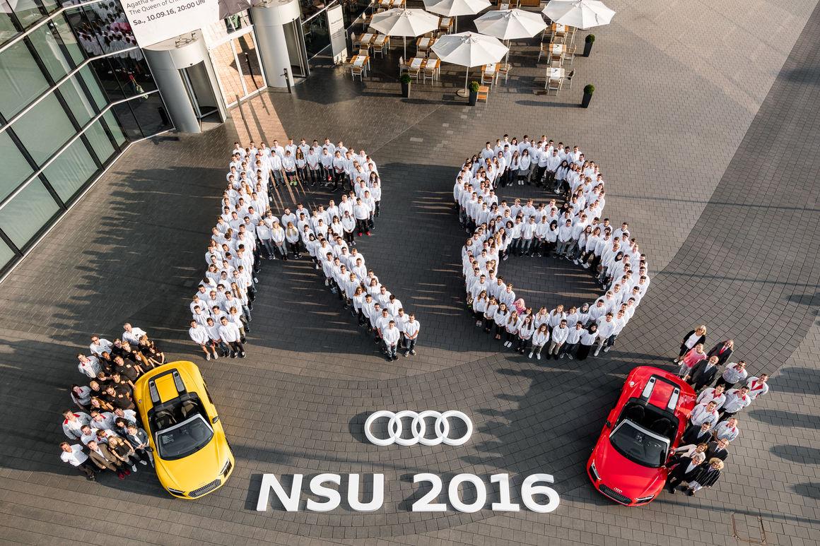 ausbildungsstart fr 273 auszubildende am audi standort neckarsulm - Audi Ingolstadt Bewerbung
